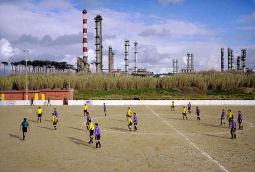 documenting amateur football pitches in a book called 'European Fields: